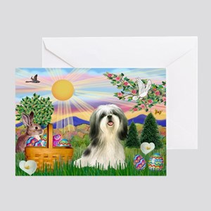 Easter Shih Tzu Greeting Card