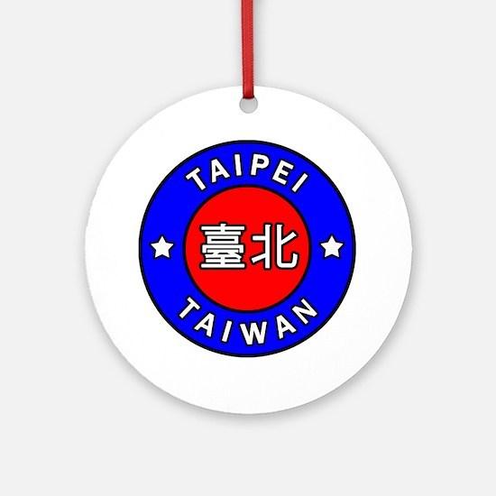 Taiwan Round Ornament