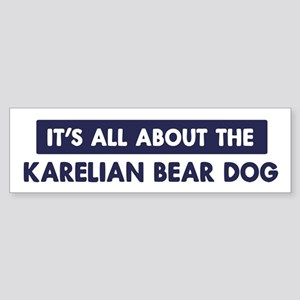 About KARELIAN BEAR DOG Bumper Sticker