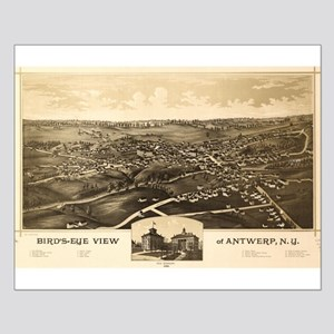 Map of Antwerp, N.Y. 1888 Small Poster