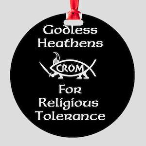 Godless Heathens Round Ornament