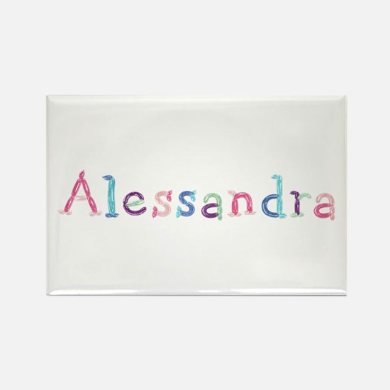 Alessandra Princess Balloons Rectangle Magnet