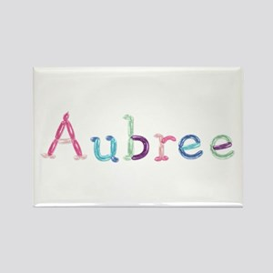 Aubree Princess Balloons Rectangle Magnet