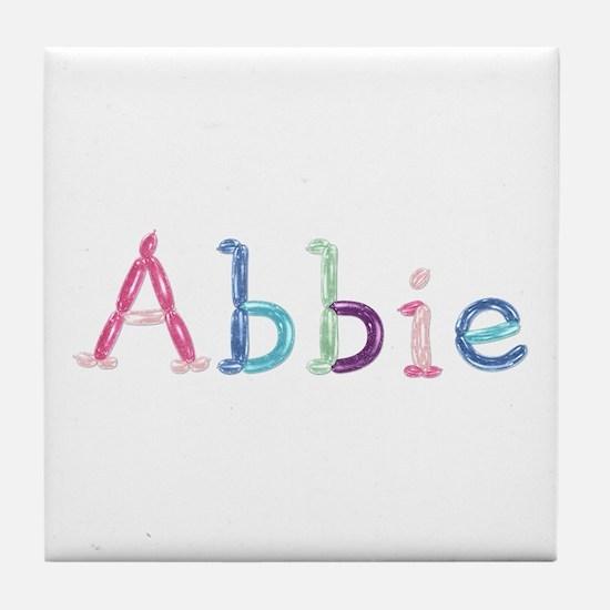 Abbie Princess Balloons Tile Coaster