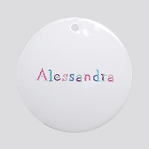 Alessandra Princess Balloons Round Ornament