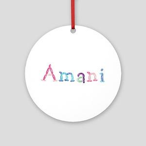 Amani Princess Balloons Round Ornament