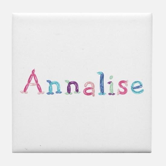 Annalise Princess Balloons Tile Coaster