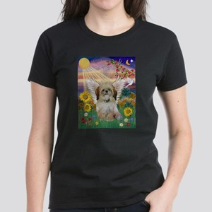 Autumn Sun & Shih Tzu Women's Dark T-Shirt
