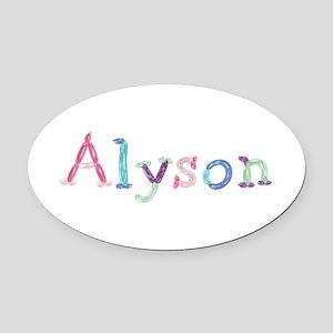 Alyson Princess Balloons Oval Car Magnet