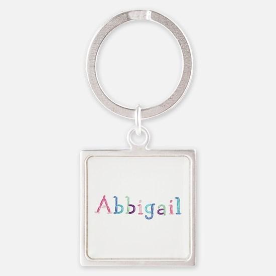 Abbigail Princess Balloons Square Keychain