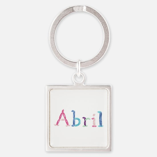Abril Princess Balloons Square Keychain