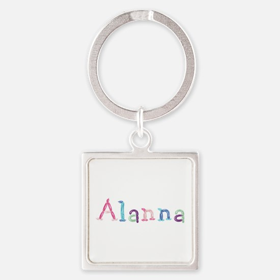 Alanna Princess Balloons Square Keychain