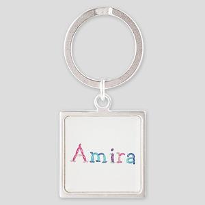 Amira Princess Balloons Square Keychain