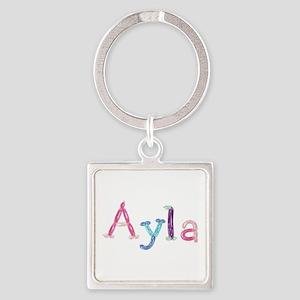 Ayla Princess Balloons Square Keychain