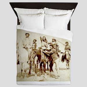 native americans Queen Duvet
