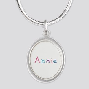 Annie Princess Balloons Silver Oval Necklace