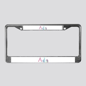 Ada Princess Balloons License Plate Frame