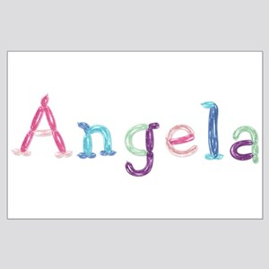 Angela Princess Balloons Large Poster