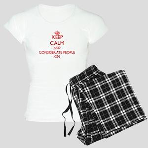 Keep Calm and Considerate P Women's Light Pajamas