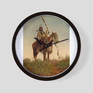 native americans Wall Clock