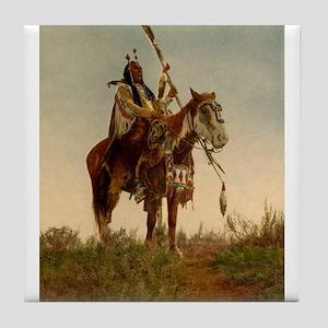 native americans Tile Coaster