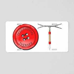 OT Button Design Aluminum License Plate