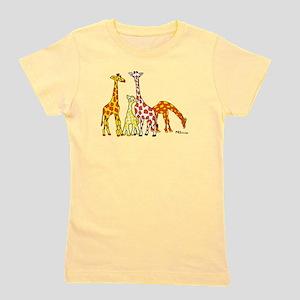 Giraffe Family Portrait in Oranges and Yellows Gir