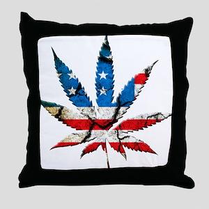 marijuana usa Throw Pillow