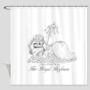 Pekingese Royalty Shower Curtain