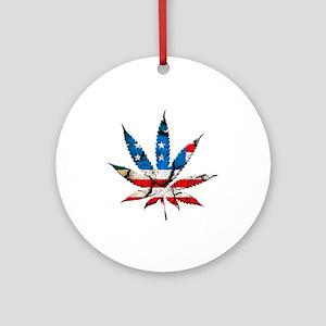 marijuana usa Ornament (Round)