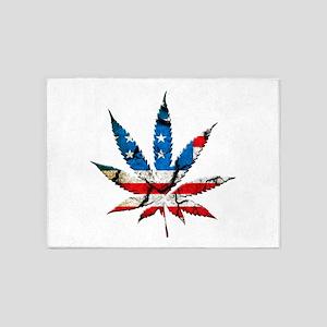 marijuana usa 5'x7'Area Rug
