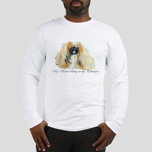 Pekingese Heart Long Sleeve T-Shirt