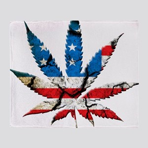 marijuana usa Throw Blanket