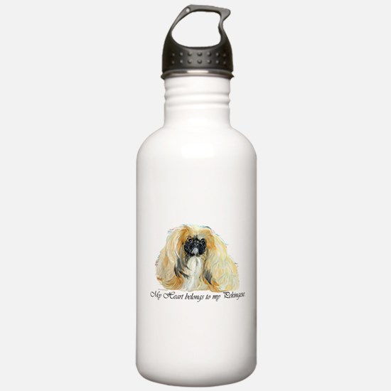 Pekingese Heart Water Bottle