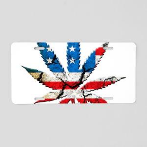marijuana usa Aluminum License Plate