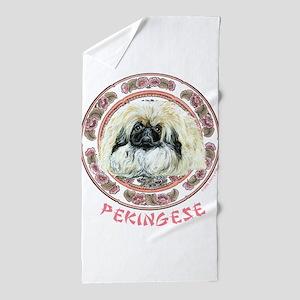 Pekingese Tradition Beach Towel