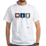 burgers, beer, cornhole White T-Shirt
