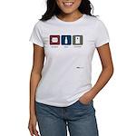burgers, beer, cornhole Women's T-Shirt