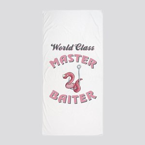 MASTER BAITER Beach Towel