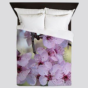 Cherry blossoms in spring time Queen Duvet