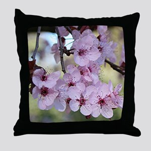 Cherry blossoms in spring time Throw Pillow