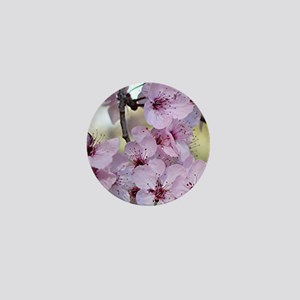 Cherry blossoms in spring time Mini Button