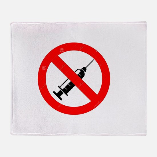 No Vaccine Throw Blanket