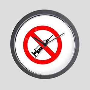 No Vaccine Wall Clock