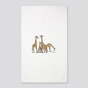 Giraffe Family Portrait in Browns and Beige Area R