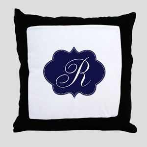 Gold Monogram by LH Throw Pillow