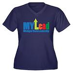 Womens V-Neck Plus Size T-Shirt