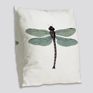 Dragonfly Burlap Throw Pillow