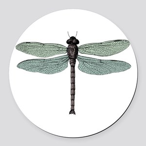 Dragonfly Round Car Magnet