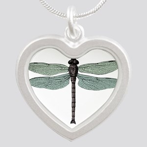 Dragonfly Silver Heart Necklace